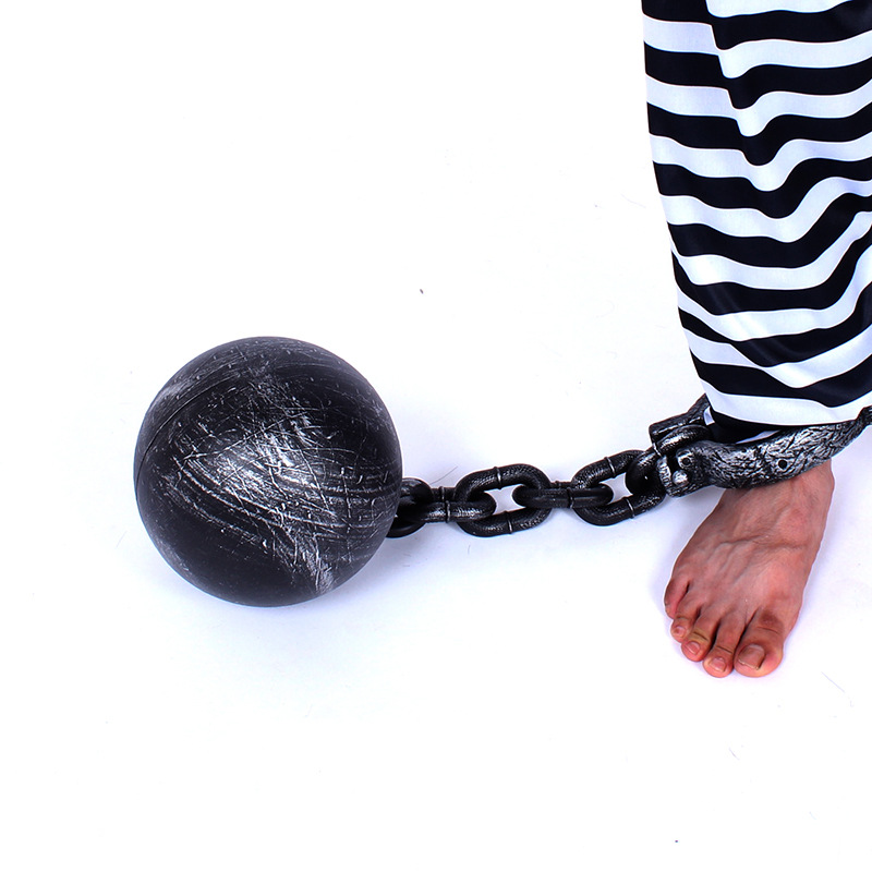"""38/""""  Chain With Handcuffs Halloween Haunted Prop Buy 2 and Save"""