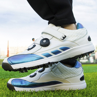 2020 New Brand Professional Golf Shoes White Blue Anti Slip Sport Shoes for Golfer Men Light Weight Athletic Golf Sneakers