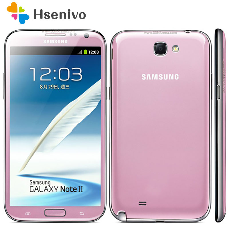 100% Original N7100 Unlocked Samsung Galaxy Note 2 II N7100 Mobile Phone 5.5