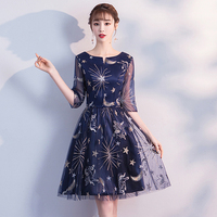 S XXL O Neck Womens Slim Party Dress Short Evening Cheongsam Marriage Gown Luxury Sexy Wedding Mini Qipao Clothes Vestid