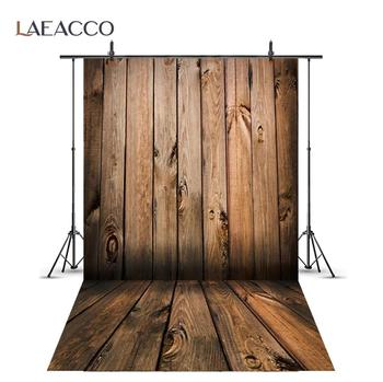 Laeacco Wooden Background Photography Plank Board Texture Cake Food Baby Portrait Photographic Backdrop Photocall Photo Studio