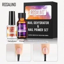 Rosalind prego primer e prego prep desidratador conjunto 15ml nenhuma necessidade de uv lâmpada led manicure para unha arte gel unha polonês