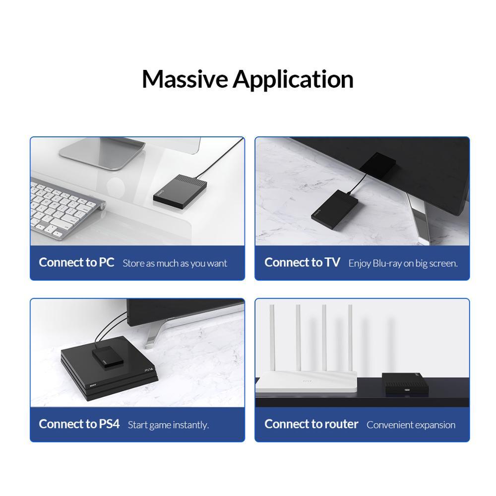 Купить с кэшбэком ORICO Type-C USB3.1 SATA to USB Hard Drive Enclosure for SSD HDD Support UASP 5Gbps HD External Hard Disk Case