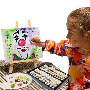 Image 5 - 24 renk 12ML akrilik boya seti zengin pigmentler tüp boyalar ahşap şövale boyama tuval sanat malzemeleri hediye çocuklar başlayanlar
