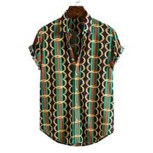 Estampadas Camisas Flores-De-Corte Delgado Para Con Hombres
