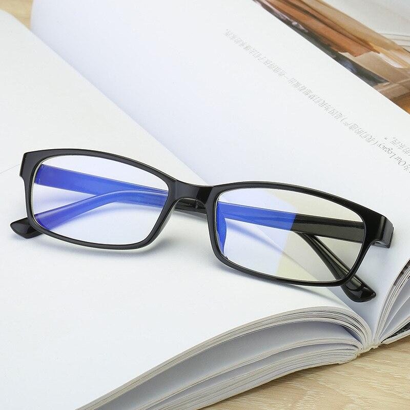 Anti luz azul miopia óculos anti radiação anti fadiga miopia óculos acabados míopia óculos diopter-0.5 a 6.0