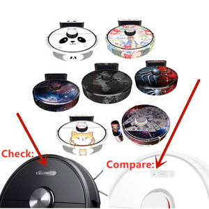 Image 2 - Roborock S6 블랙 로봇 진공 청소기 xiaomi 3st 보호 필름 스티커 용지 클리너 부품 브러시 필터에 대한 귀여운 스티커
