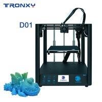 Tronxy 최신 D01 3D 프린터 CoreXY 구조 산업용 선형 가이드 레일 사일런트 디자인 타이탄 압출기 고정밀 인쇄