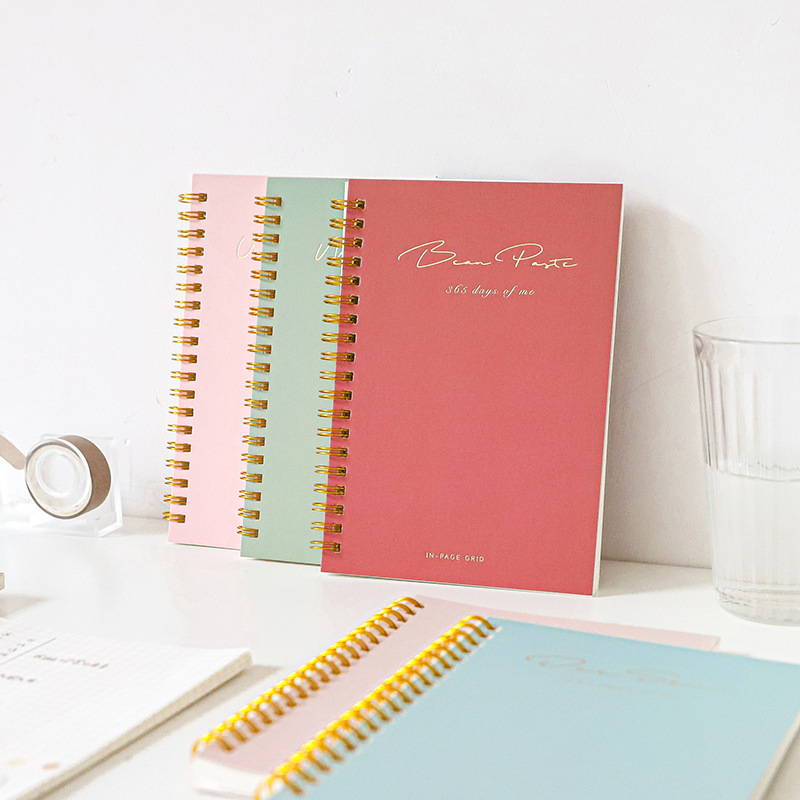 <font><b>2020</b></font> <font><b>Planner</b></font> Kawaii 60 Sheets Coil Book Solid Color Simple B6 Diary Notebook Notepad Student Stationery Office School Supplies image