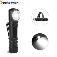 Super Bright XHP50 LED flashlight magnetic charging can as headlights 12 lens torch built-in 18650 battery multi-purpose light(China)