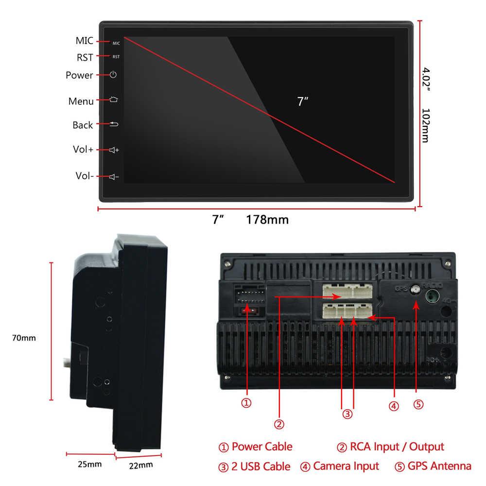 Hikity 2.5D Android 2din Mobil Multimedia MP5 Player Radio GPS Navi Wifi Autoradio 7 Inci Layar Sentuh Bluetooth FM Audio mobil Stereo