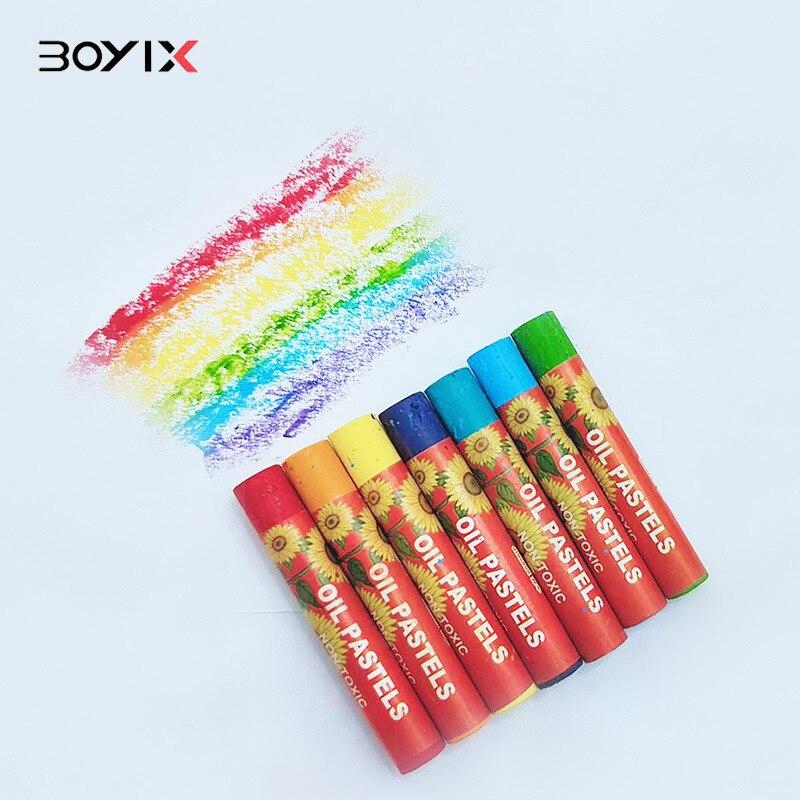Children's Graffiti Oil Painting Stick 12 24 36 48 Color Student Creative Oil pastel Painting Crayon Set Heavy