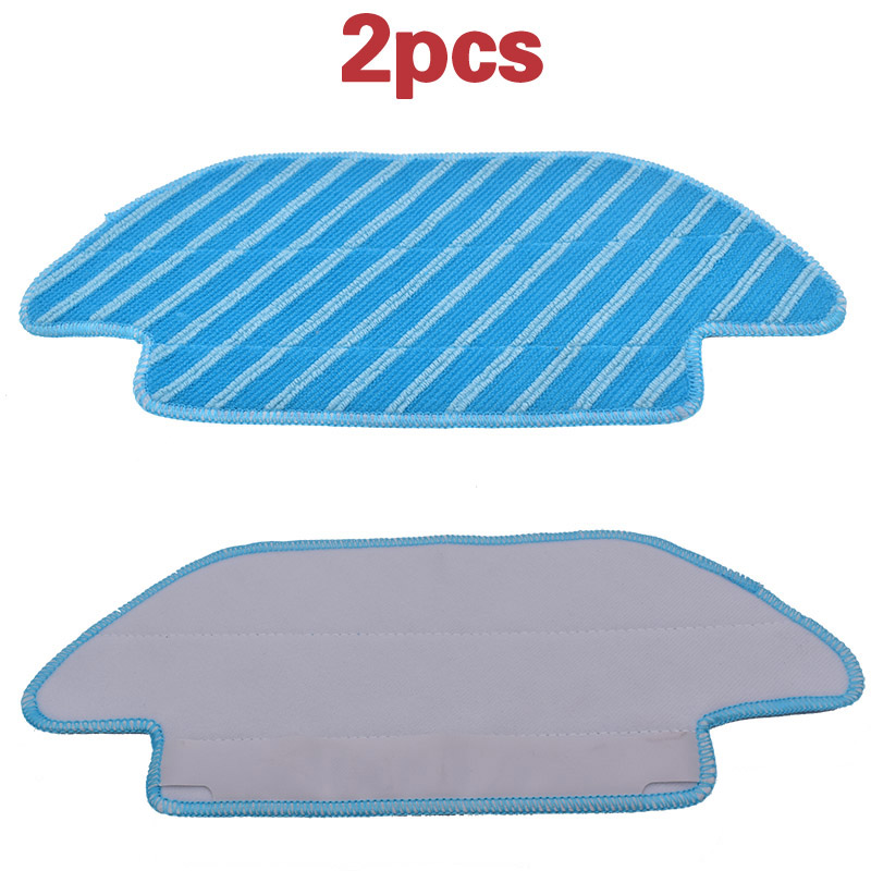New 2pcs  Fabric Mop Inserts For Conga 4090  Series Robot Vacuum Cleaner Accessories Fabric Mop Insert Kit
