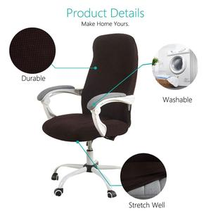 Image 3 - S/M/L Sizes Office Chair Cover Spandex Elastic Stretch Black Lift Computer Arm Chair Seat Cover Cushion 1PC