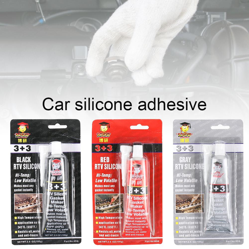3+3 Car High Temperature Silicone Rubber Automotive Non-adhesive Gasket Oil Resistant Waterproof Sealant
