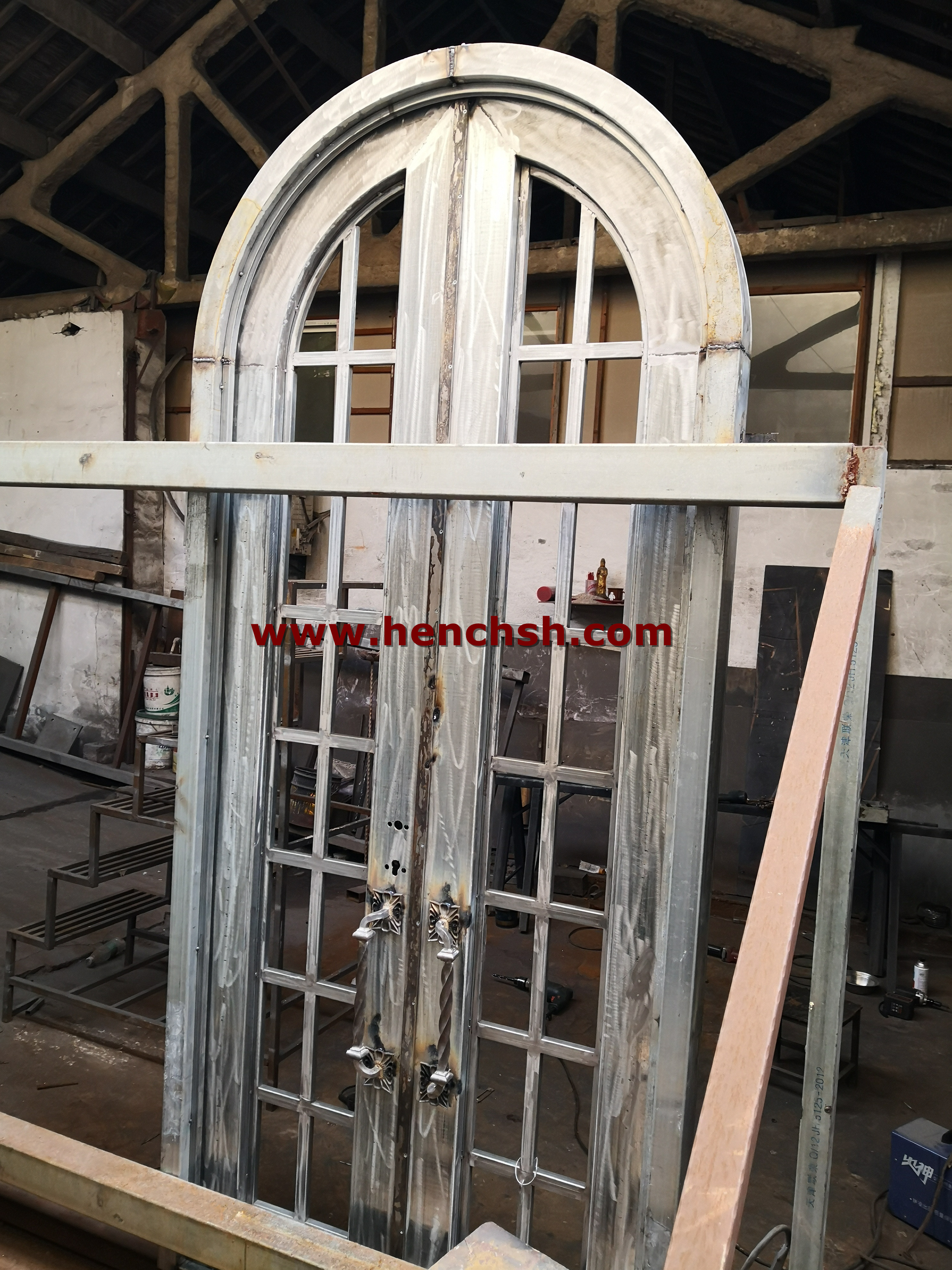 French Patio Iron Doors Designs With Glass Inserts