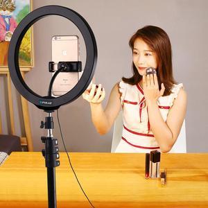 Image 5 - 4.6/6.2/10/12 Inch Mờ Selfie Vòng LED Ánh Sáng Blogger Vlogging Youtube Video & Giày Lạnh Chân Máy đầu Bóng & Kẹp Điện Thoại