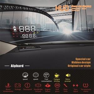 Image 3 - Liandlee Auto geschwindigkeit projektor HUD head up display Für Toyota Alphard 2018 2019 multi funktionale spezielle verwenden überdrehzahl warnung