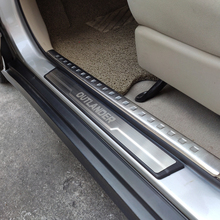 Car Accessories Styling For Mitsubishi Outlander Door Sill Stainless Steel Protector Scuff Plate Cover Auto Sticker 2013 2016 car accessories car sticker stainless steel slim for outlander wording 3d letter sticker trim for mitsubishi outlander