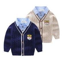 Orangemom printemps nouveau pull enfant en bas âge décontracté à manches longues col rabattu tricots bébé pull vêtements pour garçons, 1PC