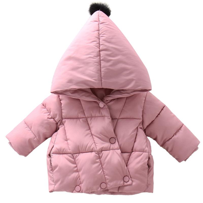 Детская Теплая стеганая куртка с капюшоном из хлопка