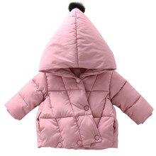 Crianças do bebê de pelúcia algodão acolchoado jaqueta inverno da menina quente algodão acolchoado jaqueta com capuz de algodão acolchoado