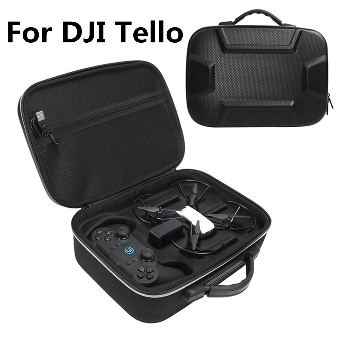 Waterproof Travel PU EVA Carry Bag For DJI Tello EDU Protective Storage Case for DJI Tello Drone Portable handbag Box Black