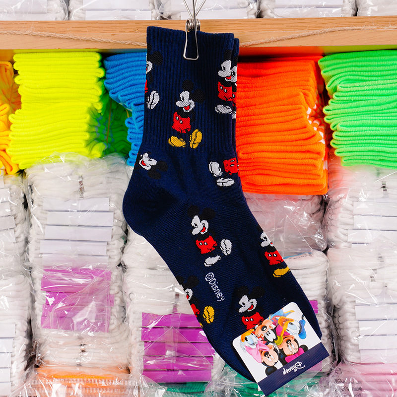 Disney adult socks Mickey Mouse sweet socks adult fashion wild thread cotton socks ladies 4