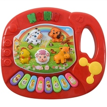 цена на Baby Kids Musical Educational Animal Farm Piano Developmental Music Toy