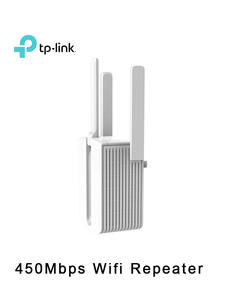 Tp-Link Wifi Repeater Extender Wireless-Range Signal-Amplifier 450mbps Three-Antennas