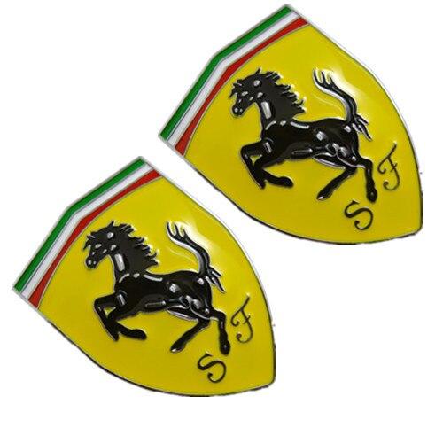Labeling Three-Dimensional-Stickers Car-Logo Ferrari Modified For Metal 3D