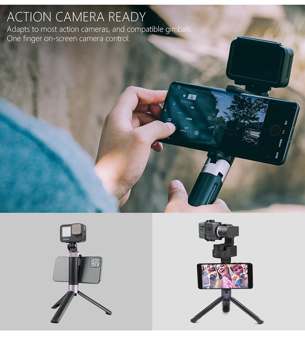 PGYTECH OSMO Pocket 2 Hand Grip & Tripod for Gopro Hero 6 5 4 Xiaomi Yi Action Camera Accessories-2