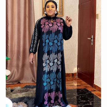 Chiffon African Maxi Dress Women Muslim Abaya Cardigan Loose Long Sleeve Robe Dresses Dashiki Bazin Print Party Night Vestidos - discount item  40% OFF Muslim Fashion