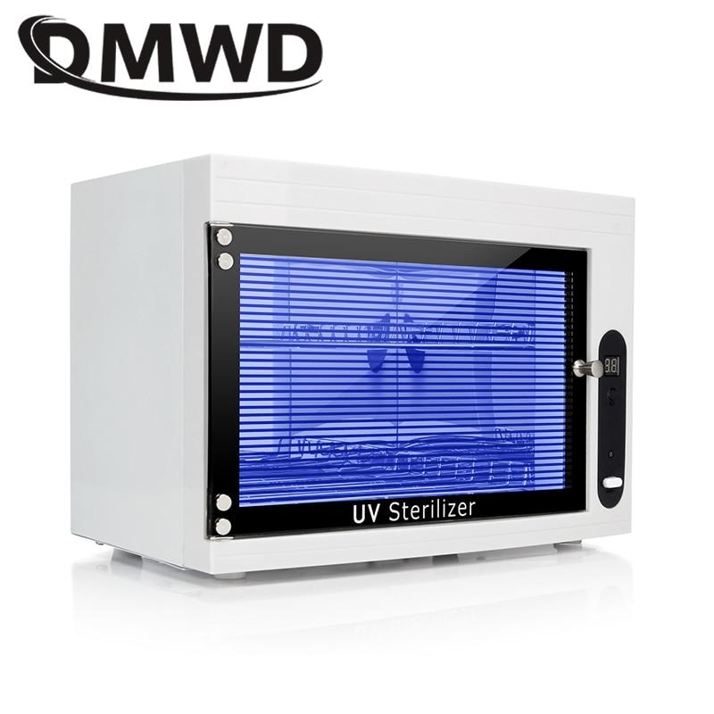 DMWD UV Sterilizer Disinfection Box Mini Ozone Disinfecting Cabinet Dental Ultraviolet Lamp Sterilization Nail Cleaner 110V 220V