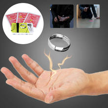Magic show Magic Trick Floating Ring Magic Flying card Floating Coin Effect Invisible Suspension Magic Props Thumb Rings(China)