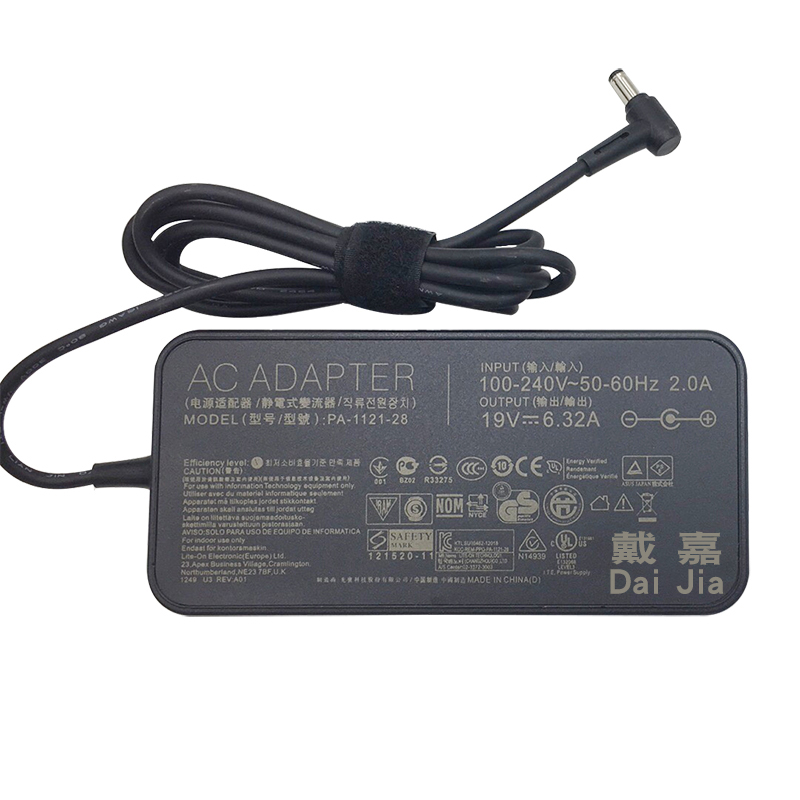 Original 19V 6.32A For ASUS Laptop supply power AC adapter charger FX50J ZX50JX A550J FX63VD W50J G58JVG fxj4200 PA 1121 28|Laptop Adapter|   - AliExpress
