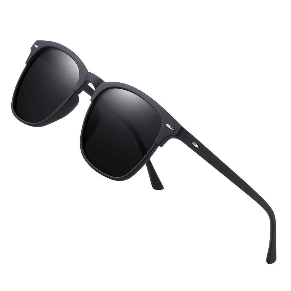 Мужские солнцезащ. Очки в Винтаж. Оправе AOFLY, черно-серые солнцезащитные очки в винтажной оправе в квадратной оправе с поляризованными зерка...