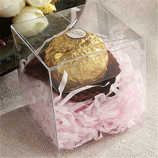 1pcs Transparent Plastic Clear Gift Candy Box Square PVC Chocolate Bags Boxes Wedding Favor Party Event Decoration Gift Supply