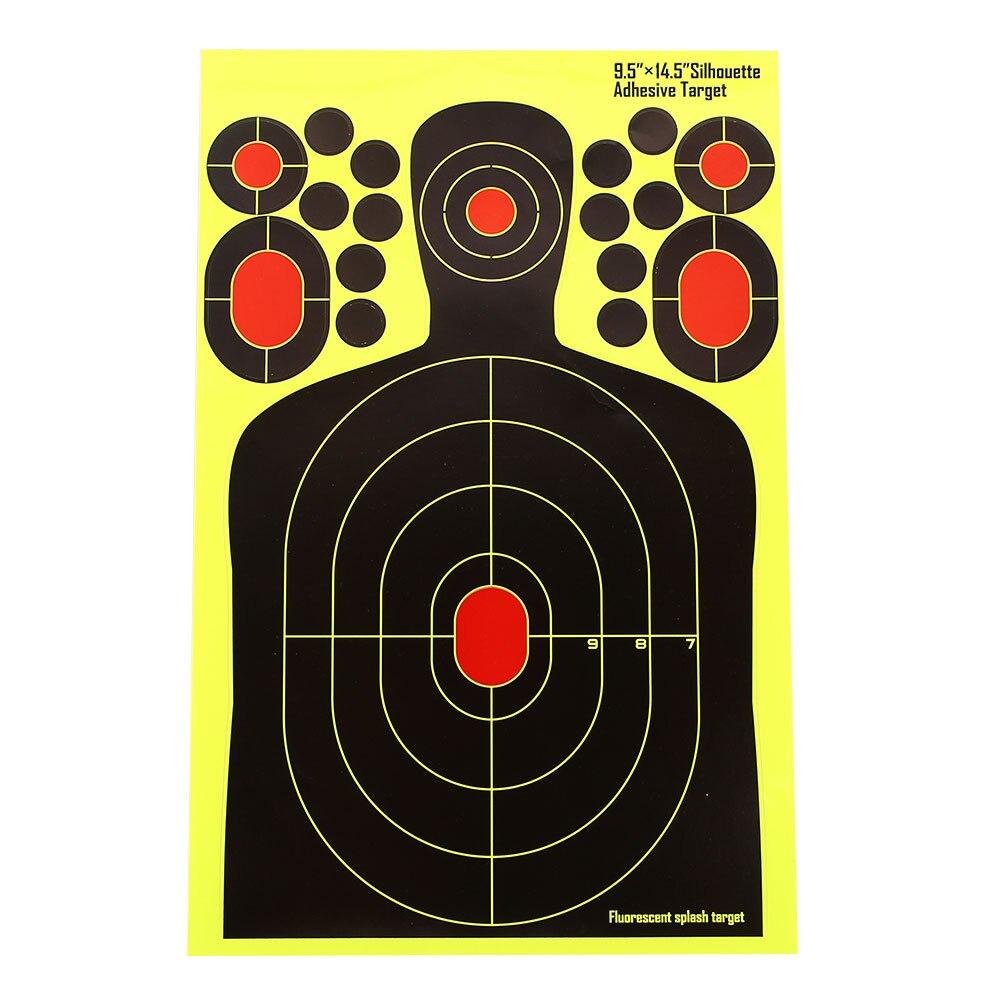 Economic Target Stickers Paper Target Yellow Practice Hunter Shotgun Training Shooting Target Rifle Hunting Bow Outdoor