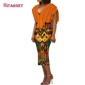 Africa Dress for Women new Danshiki Bazin Riche Sexy Wedding Party sleeveless long Dress Traditional African Clothing WY5853