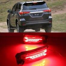 Dla Fortuner Toyota 2015 2016 2017 2018 2019 2020 LED tylne światło na zderzak tylne światła przeciwmgielne światła hamowania włącz ostrzegawczy sygnał świetlny reflektor