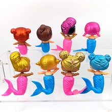 8 Pcs different models dolls toys mini mermaid reborn baby doll silicone real