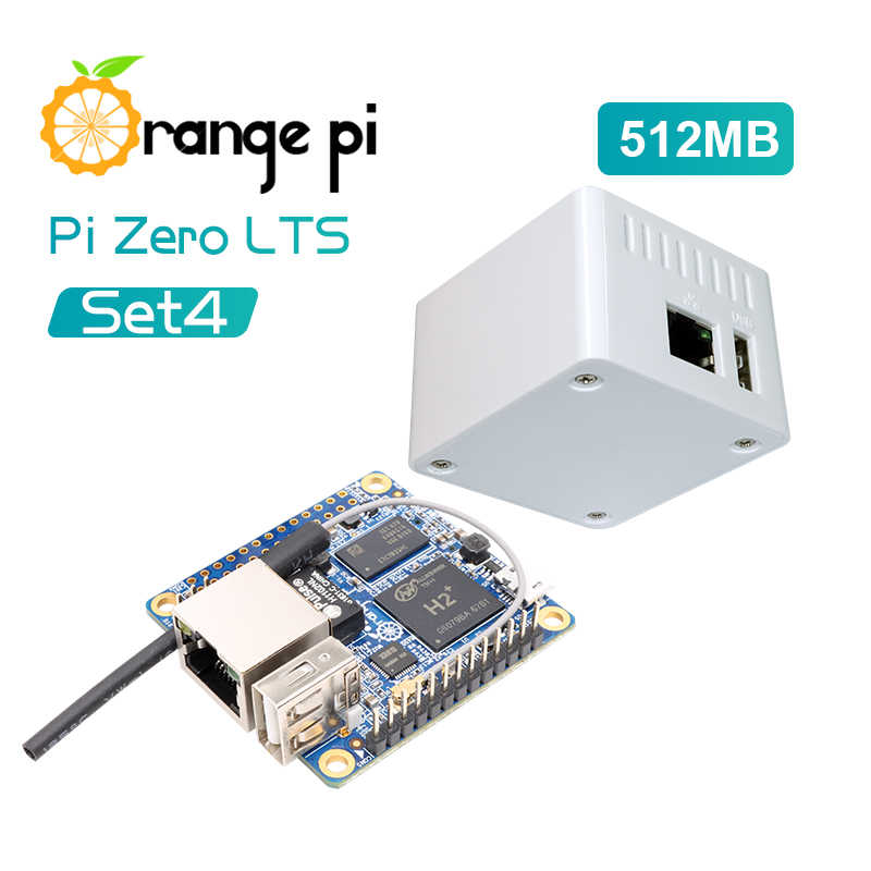 Orange Pi Null LTS Set4: Orange Pi Null LTS 512MB + Schutzhülle Weiß Fall, h2 + Quad Core Open-source-entwicklung bord