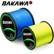 BAKAWA Braided Fishing line Carp Multifilament Wire Pesca 4 Strands Japanese Pe Line Saltwater 300M 500M 1000M Accessories