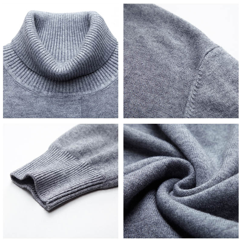 COODRONY Brand Turtleneck Sweater Men Fashion Casual Pull Homme 2019 Winter Thick Warm Sweaters Wool Slim Fit Pullover Men C1015