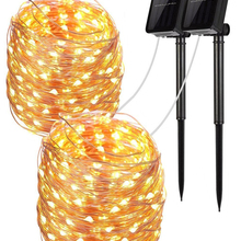 String-Lights Solar-Lamp Fairy LED Christmas-Party Garden Outdoor Waterproof Holiday