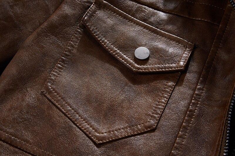 H37e0af03f7d34a989c4ef13f16760e38o Men Hooded Jacket And Coat Autumn Winter Warm Casual Leather Jackets PU Coats Slim Fit Outerwear Male Zipper Hoody Sportswear