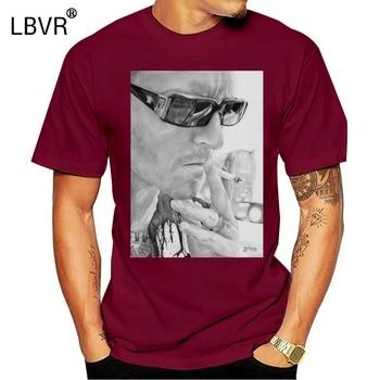 Camiseta negra Unisex Chester Bennington Smoking para regalo de cumpleaños