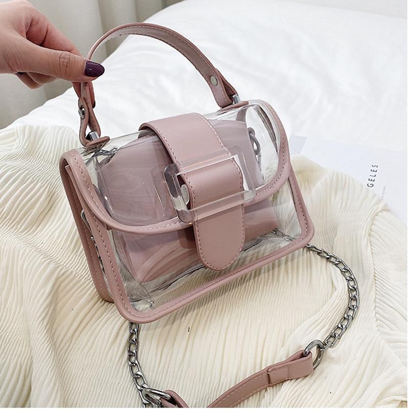 Transparent Small Bag Crossbody Bags For Women 2020 Summer Cut Lady Shoulder Messenger Bag Female Travel Handbags