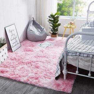 Радужный ковер градиент галстук-краска плюшевый ковер журнальный столик для гостиной коврик ковер для спальни прикроватный эркер коврик д...
